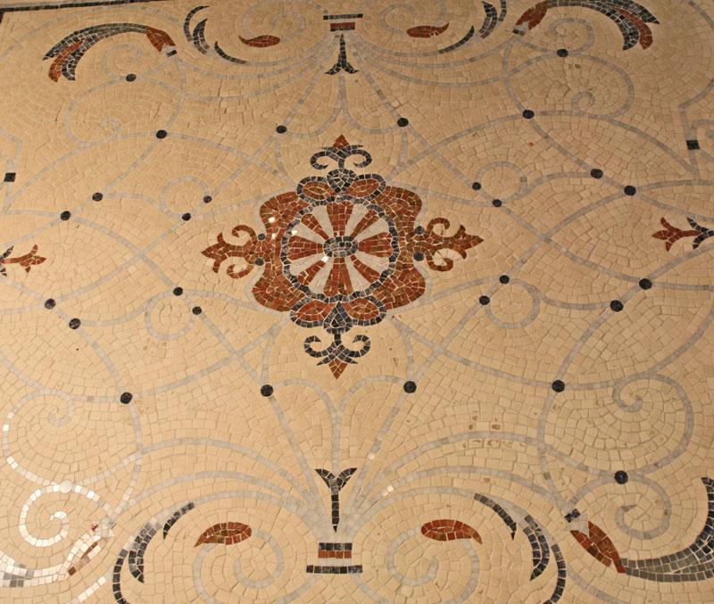 Custom Mosaic Design Powder Room Colts Neck NJ