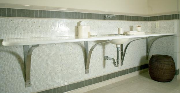 Spa Bath Counter Interior Design Colts Neck