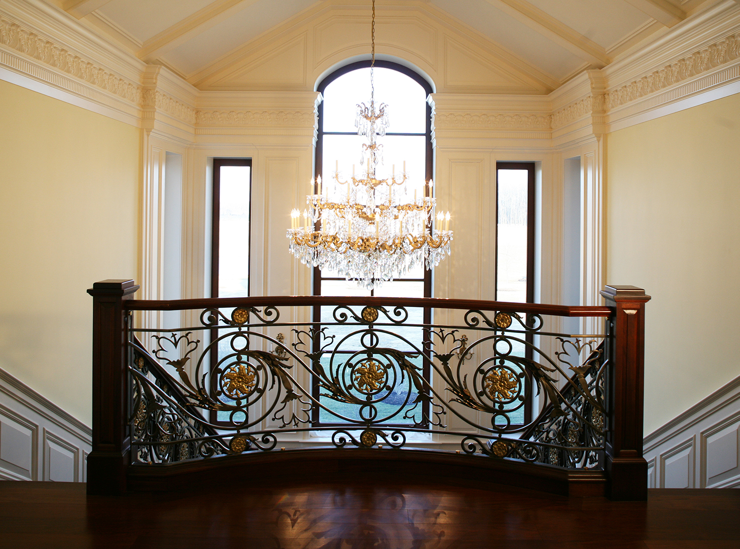 stairhall chandelier